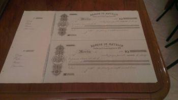 Greece BANQUE DE METELIN check 1891!!!!