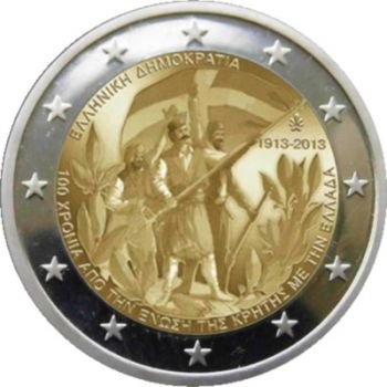 Greece 2 euro 2013: 100th anniversary of the union of Crete with Greece