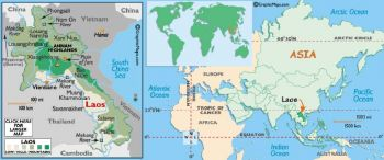 LAOS SET 8 Χαρτονομισμάτων 1-5-10-20-50-100-500-1000 KIP UNC