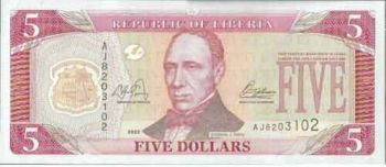LIBERIA 10 DOLLARS 2006 P 27 UNC