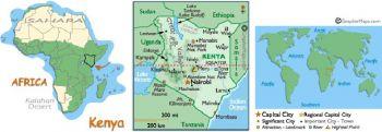KENYA 10 SHILLINGS 1978 P-16 UNC