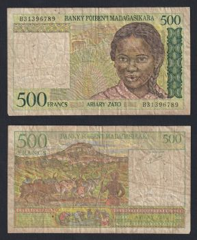 MADAGASCAR 1000 FRANCS 1994 P 76 UNC