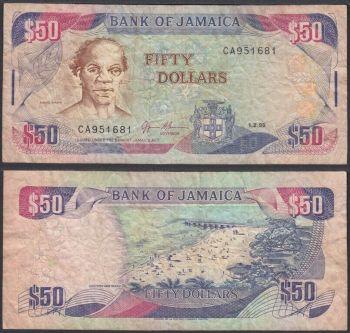 JAMAICA 500 DOLLARS 2007 (Dimple) P-85d AUNC