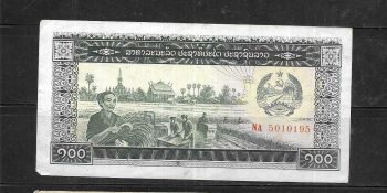 LAOS 1000 KIP 1963 P 14 AUNC