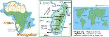 MADAGASCAR  25.000 FRANCS ND (1998) P-82 UNC