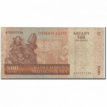 MADAGASCAR 50 FRANCS 1974-75 P62a UNC