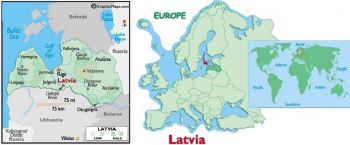 LATVIA 5 LATI  2007 UNC