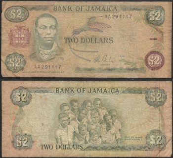 JAMAICA 1.000 DOLLARS 2008 P-86f UNC