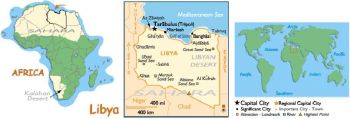 LIBYA 5 DINARS 2004 UNC