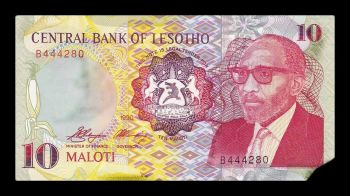 LESOTHO 10 MALOTI 2003 UNC