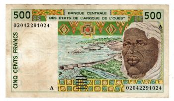 IVORY COAST (WEST.AFRICAN STATES) 500 Francs 1987 P106A UNC