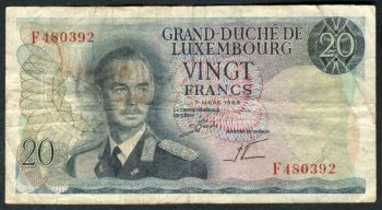 LUXEMBOURG 100 FRANCS 1981 P-14a UNC