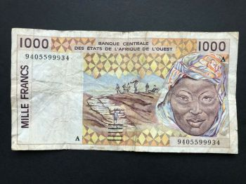 IVORY COAST (WEST.AFRICAN STATES) 500 Francs 1988 P106A UNC