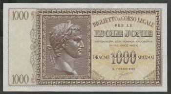 Greece: WWII  Isole Jonie Drachmae 1.000  UNC!