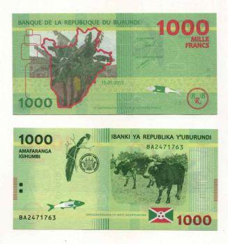 BURUNDI 1.000 FRANCS 2015 UNC