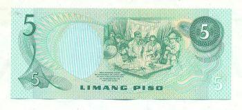 Pilipinas 5 Piso 1949 UNC