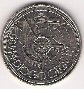 100 ESCUDOS - KM# 641 - DIOGO CAO - 1987 - UNC - COPPER-NICKEL