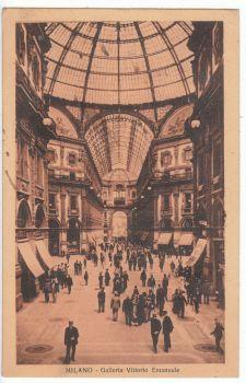Postcard & Stamp - Milano, Galleria Vittorio Emanuele 1926