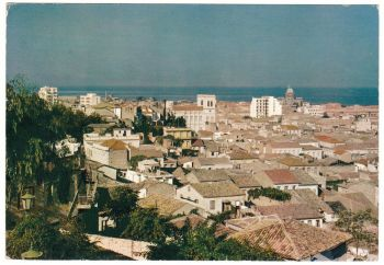 Greece Postcard & Stamp - Patras Partial View