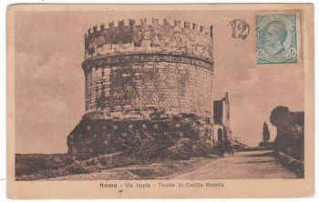 Postcard & Stamp - Roma Via Appia 1919