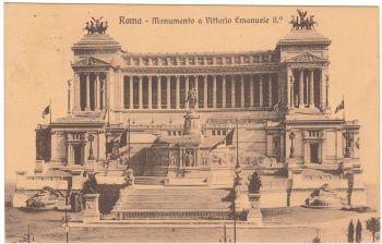 Roma 1912 Monumento a Vittorio Emanuele
