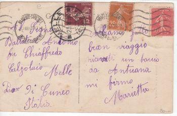 France Postcard & Stamp - Marseille 1930
