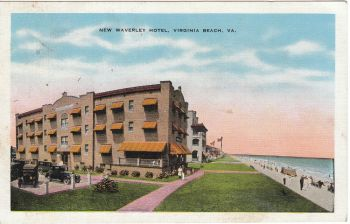 Virginia Beach - New Waverley Hotel 1945