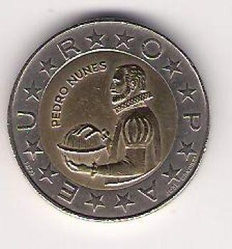 100 ESCUDOS - KM# 645.1 - PEDRO NUNES - UNC - BIMETALIC - 1991