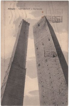 Bologna Italy - Torri Asinelli e Garisenda 1931