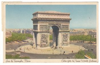 Postcard & Stamp - Paris with Greek Stamps