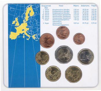 Greece 2002 - Official Blister Euroset - 8 Coins BU