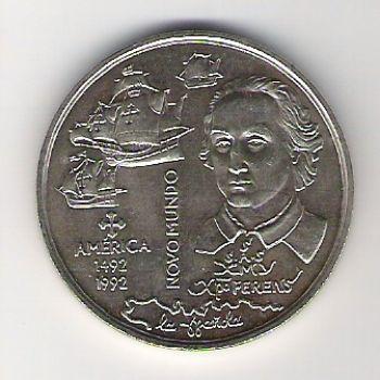 200 ESCUDOS - KM# 660 - NEW WORLD - ND(1992) - UNC - COPPER-NICKEL