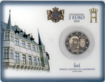 Luxembourg 2010 - 2 euro coincard Arms of the Grand Duke