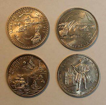 Πορτογαλλία σετ b  4 νομίσματα των 200 escudos unc