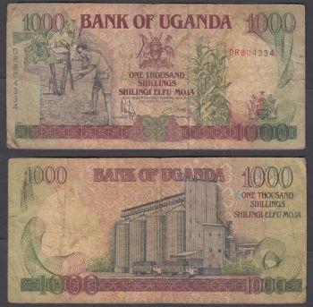 UGANDA 1000 SHILLINGS 1986 P26 UNC