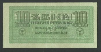 Greece: WWII (German occupation) 10 pfennig AU !!