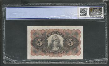 Greece: National Bank of Greece Drachmae 5/29.10.1918 PCGS 45 Choice EF !!