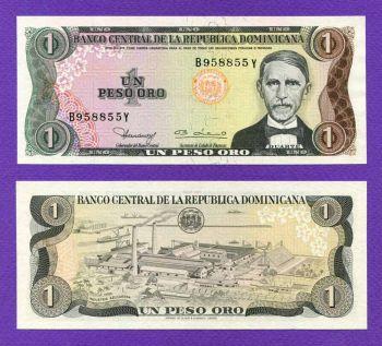 DOMINICAN REPUBLIC 1 PESO 1980 UNC