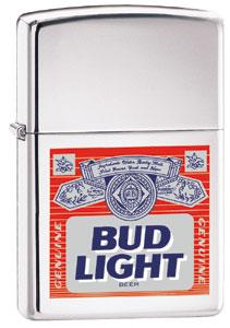 Tobacco Items Lighters 2000 Zippo Bud Light Label