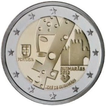 PORTUGAL 2 EURO 2012  Guimaraes - European Capital of Culture  UNC