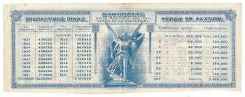 KINGDOM OF GREECE BOND SHARE OF 100 DRACHMAS  1922