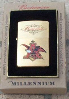 2000. Zippo Budweiser Millennium - Limited Edition 15000 ex. Worldwide - Free shipping