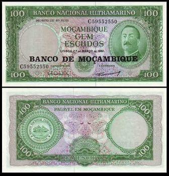 MOZAMBIQUE 100 ESCUDOS 1961 UNC P 117