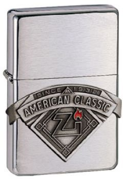 1999. Zippo American Classic Pewter Emblem  -  Free shipping