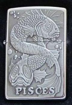 1998. Zippo Zodiac Pisces Emblem  -  Free shipping