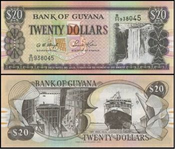 Guyana, 20 dollars, 1996, P-30, UNC