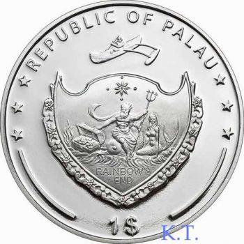 PALAU ISLANDS  Κολοσσός της Ρόδου έγχρωμο Proof  δολάριο 2009
