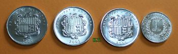 ANDORRA set  4 ακυκλοφόρητα νομίσματα