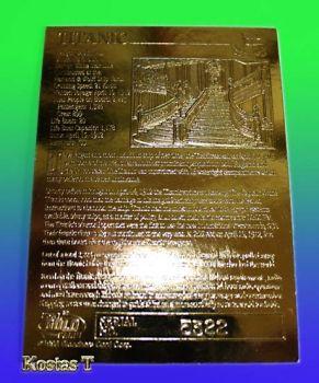 Τιτανικός, Χρυσή (23Kt) συλλεκτική κάρτα