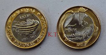 MALVINAS ISLANDS  2 pesos 2012 (30 YEARS of FALKLAND WAR) UNC